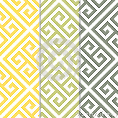 Free Seamless Greek Key Background Pattern In Three Color Variations Royalty Free Stock Photo - 29722085