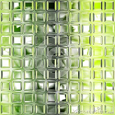 Seamless green glass tiles texture