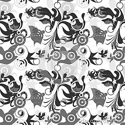 Seamless greyscale pattern