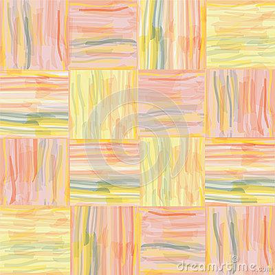 Seamless grunge  striped watercolor pattern