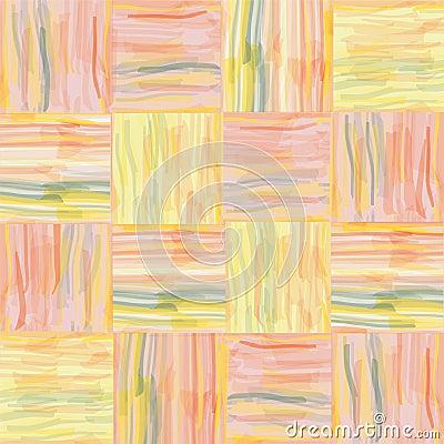 Seamless grunge  striped watercolor pattern