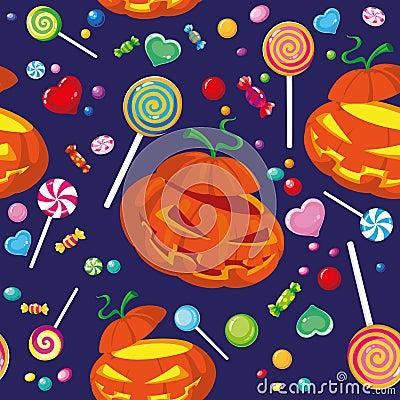 Seamless halloween candy