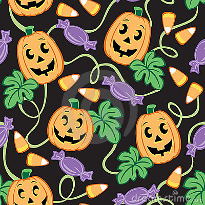 Free Seamless Halloween Pattern Royalty Free Stock Images - 3234309