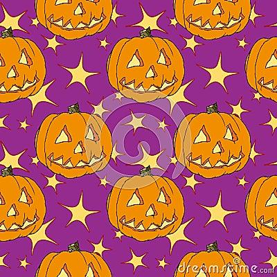 Seamless halloween pumpkin