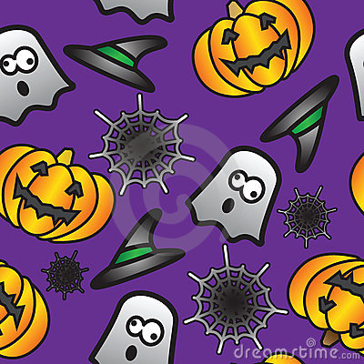 Seamless Halloween Tile Background