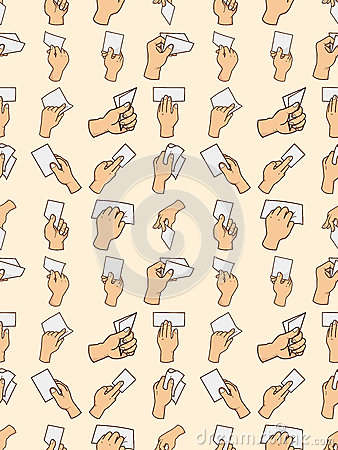 Seamless hand card pattern