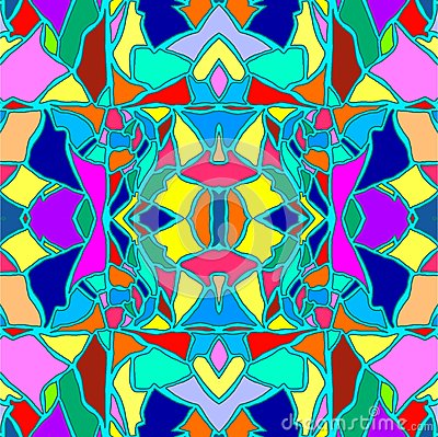 Seamless hand drawn color pattern with eggshell texture