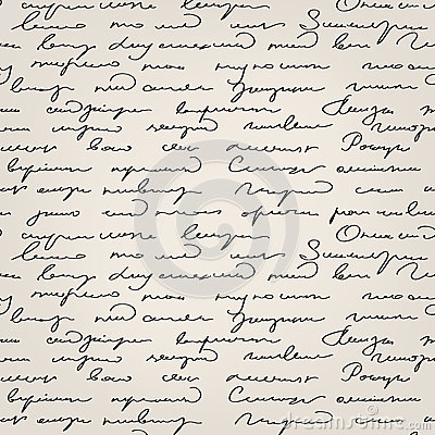 Seamless handwritten text pattern