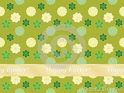Seamless Happy Easter pattern