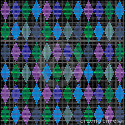 Seamless harlequin pattern fabric background