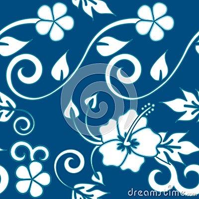 Seamless Hawaiian - Blue