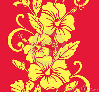 Seamless Hawaiian Royale Border/Pattern