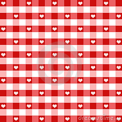 Free Seamless Hearts & Gingham Stock Image - 16721421