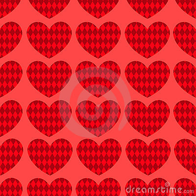 Seamless hearts pattern 1.