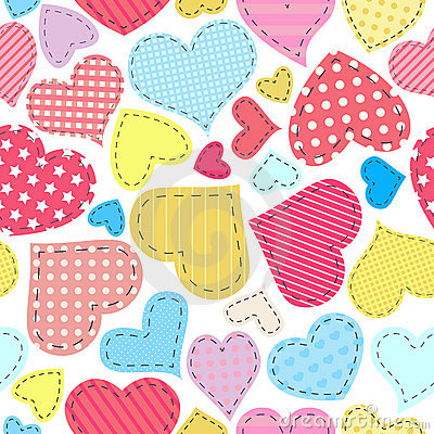 Free Seamless Hearts Pattern Royalty Free Stock Image - 17431936