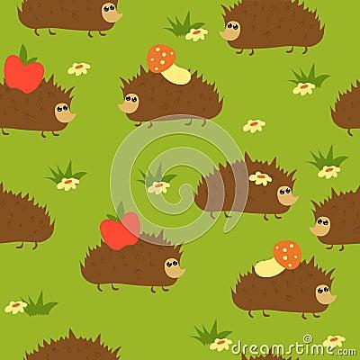Free Seamless Hedgehogs Royalty Free Stock Image - 9792526