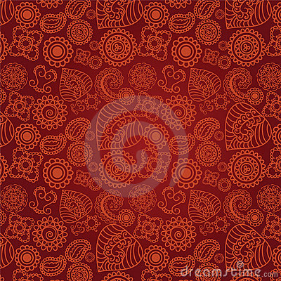 Seamless Henna Pattern