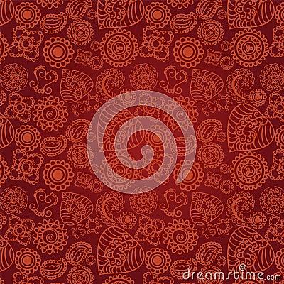Seamless Henna Pattern