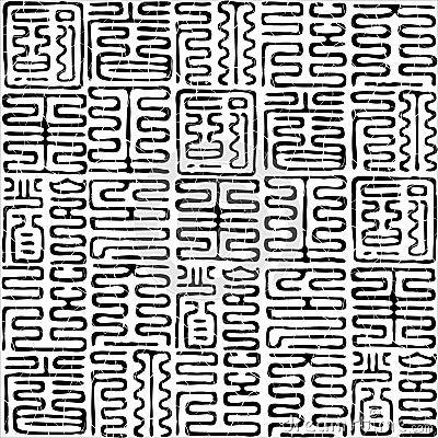 Seamless hieroglyphs pattern