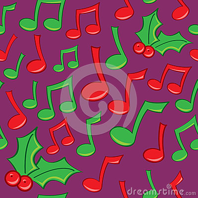 Seamless Holiday Music Pattern