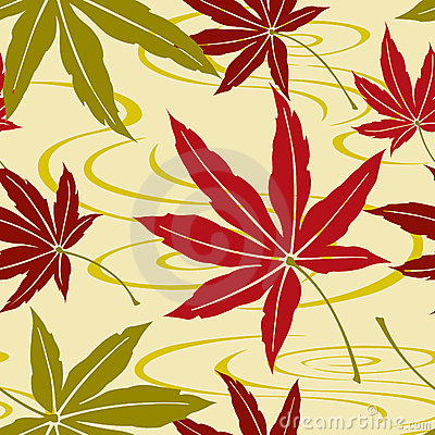 Seamless Japanese Maple Pattern