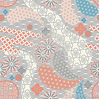 Seamless japanese modern background