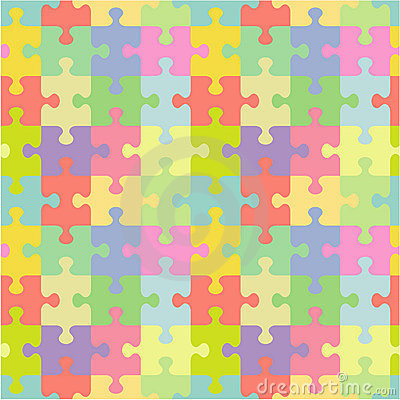 Free Seamless Jigsaw Puzzle Pattern Royalty Free Stock Images - 14704999