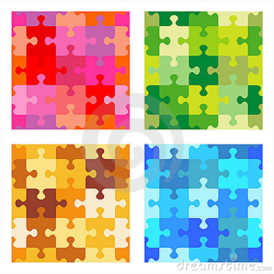 Free Seamless Jigsaw Puzzle Patterns Stock Images - 15393104