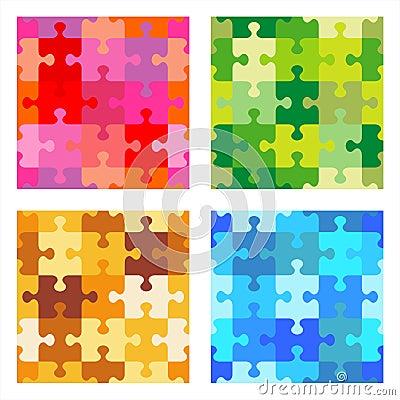 Seamless jigsaw puzzle patterns