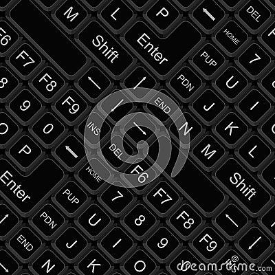 Seamless keyboard pattern