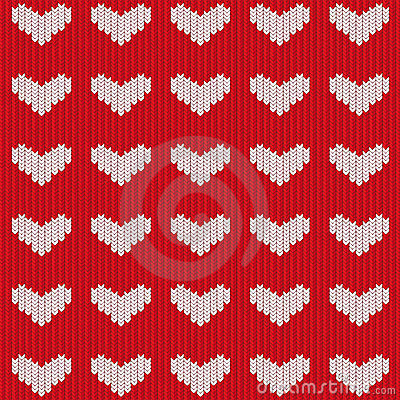 Seamless knitted heart