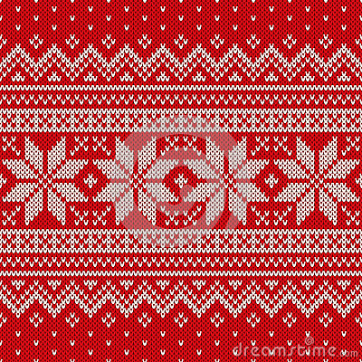 Free Seamless Knitted Pattern. Wool Sweater Design Stock Photo - 47629910