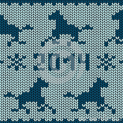 Seamless Knitting Pattern With Horses Royalty Free Stock ...