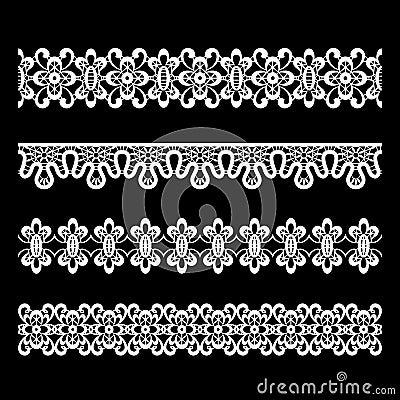 Free Seamless Lace Borders Stock Image - 26059191