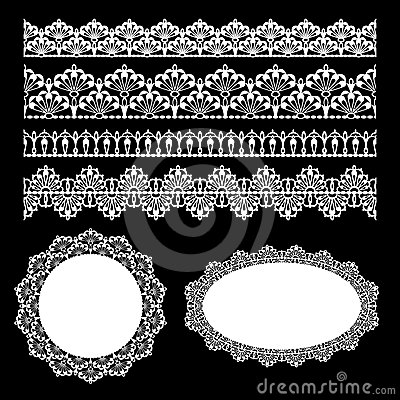 Free Seamless Lace Set Royalty Free Stock Images - 24342239