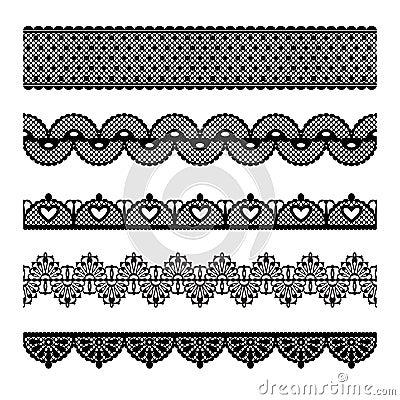 Free Seamless Lace Set Royalty Free Stock Image - 25111186
