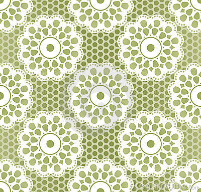 Seamless lacing pattern