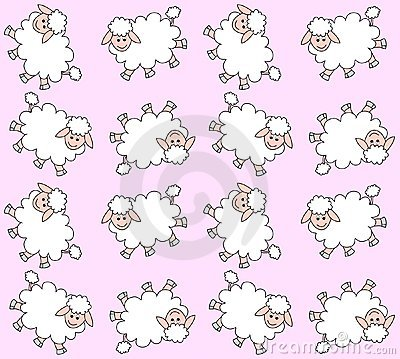 Free Seamless Lamb Pattern Royalty Free Stock Image - 15927826
