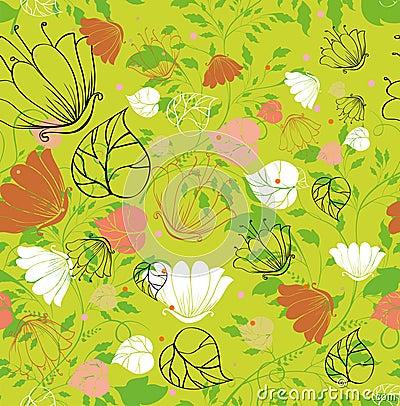 Seamless leafy background
