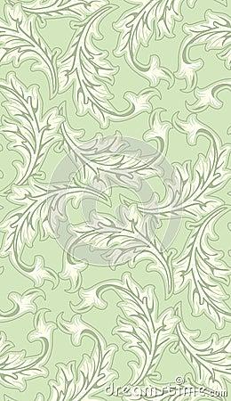 Seamless Leafy Wallpaper Pattern