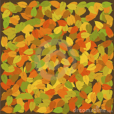 Seamless with leaves, autumn background