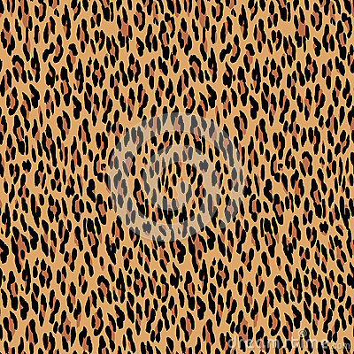 Seamless Leopard Pattern Animal Skin Texture Stock