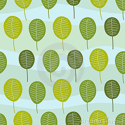 Seamless Little Trees Pattern