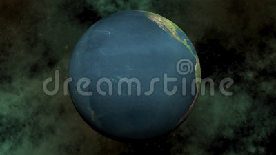 Seamless looping earth - 3D render. Seamless looping earth in universe background, 3D render - Element of this image furnished by the NASA royalty free illustration