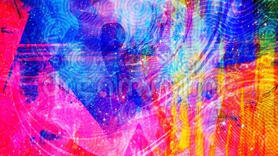 Trippy Psychedelic Patterns With Outer Space Starfield 4k