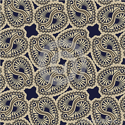 Seamless luxury paisley Vector Illustration
