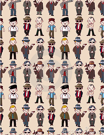 Seamless mafia pattern