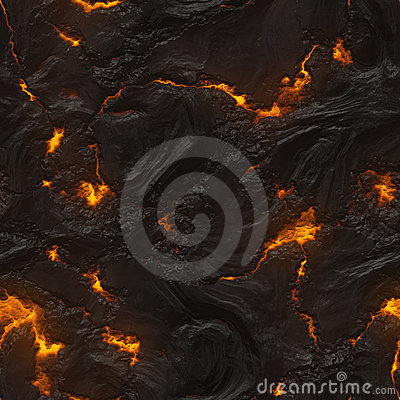 Free Seamless Magma Or Lava Texture Stock Image - 20967431