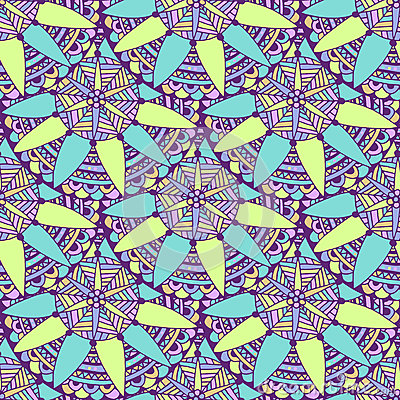 Free Seamless Mandala Background In Vector. Tribal Ethnic Pattern. Zentangle For Adult Coloring Book Page Or Textile Design Stock Photography - 68049882