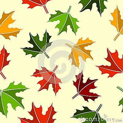 Seamless maple leaves pattern